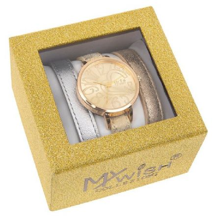 Timeless Gold Coloured Watch 3 Piece Set